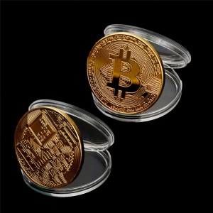 Collectible Art Collection Gift Bitcoin Coin Gold Plated  Commemorative Metal Antique Imitation Coins Collectibles