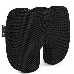 DSFUU Seat Cushion Pillow for Office Computer Chair Car Wheelchair Memory Foam  Improves Posture Non-Slip Bottom Washable Cover