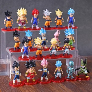 Dragon Ball Z Figures Son Goku Gohan Vegeta Trunks Buu Broly Freeza Anime DBZ Model Toys PVC Collectible Figurines 21pcs/set