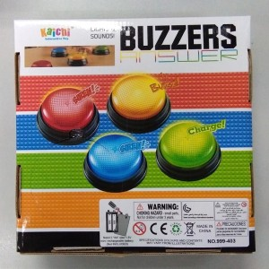 Free Shipping plastic educational toy for family game competition quiz buzzers lights and sounds button buzzer toy