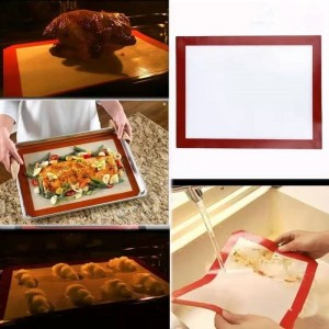 Household Silicone Baking Mat Cookie Bread Macaroon Biscuit Bakeware Mat Oven Pad Roast Tool Kitchen Supplies Accessories