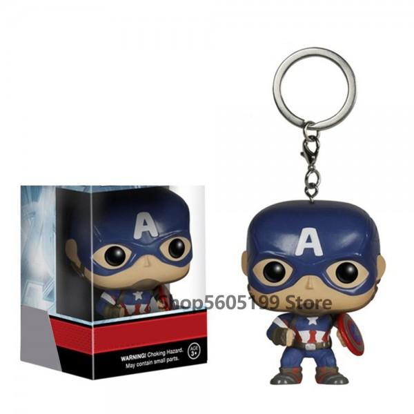 Keychain POP Harley Sailor Moon Captain America Venom Super Hero Black Panther  Jon Snow ALDDIN Collectible keychain With Box