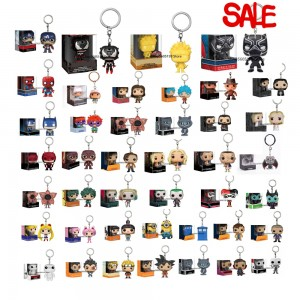 Keychain POP Harley Sailor Moon Captain America Venom Super Hero Black Panther  Jon Snow ALDDIN Collectible keychain With Box