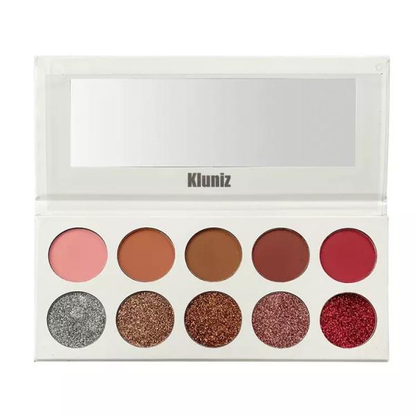 Kluniz Smooth 10 Colors  Easy Remover Eyeshadow Eye Shadow Palette