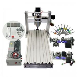 Mini CNC Machine DIY 6020 Metal CNC Router Engraver USB 400w Spindle Iron Wood Pcb Carving Machine for  Jewellery
