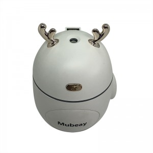 Mubeay Cute antler aroma diffuser home decoration ultrasonic humidifier with LED light