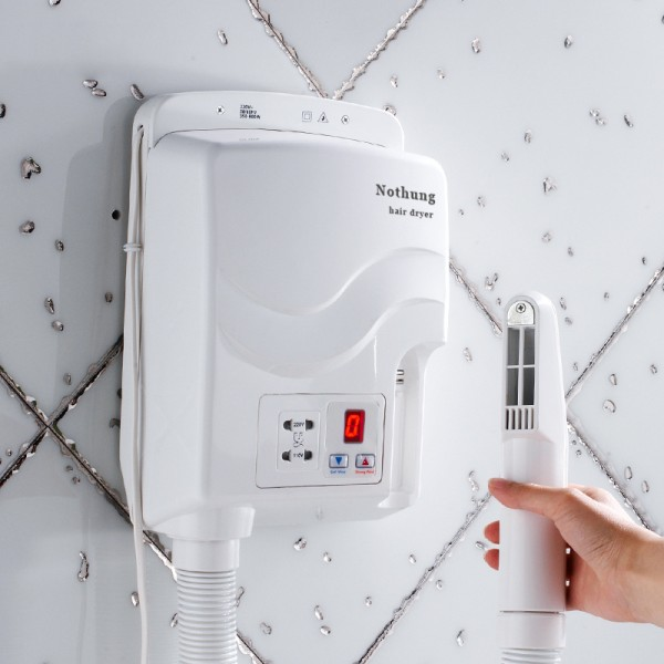 Nothung Bathroom wall hanging thermostatic hair dryer hair dryer and skin dryer waterproof hotel hotel bathroom hair dryer hair dryer