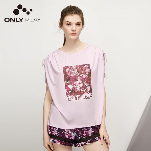 ONLY ONLYPLAY  Women's Summer Loose Fit Round Neckline Short-sleeved T-shirt 119101628