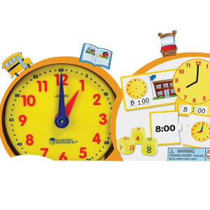 Rix Time Activity Set Early Education Toolkit Home School Analog Clock Tactile Learning 41 Educational Toys Over 5 Years Old