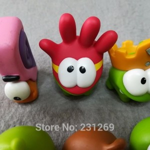 *SEND RANDOMLY* LOT 5pcs/lot ORIGINAL Rope Frog Games Doll Cut The Rope OM NOM Figures Cartoon Monster Model Toys Kids Gift