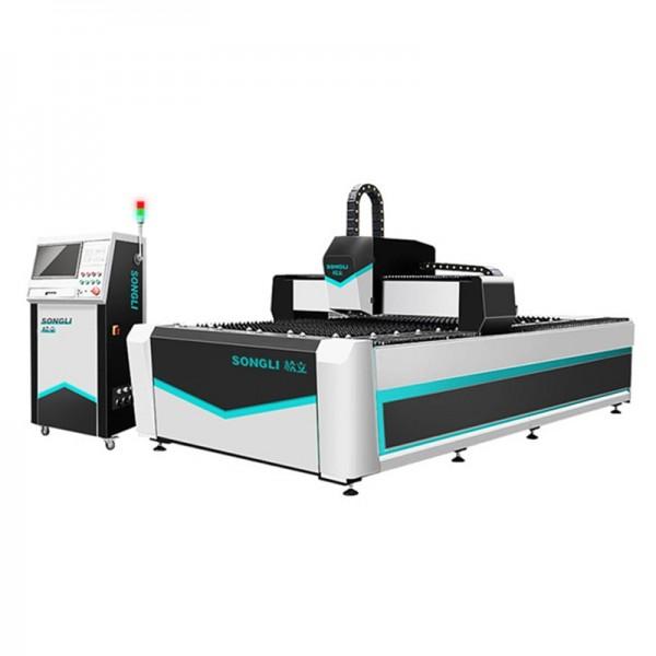 Songli 3015 500W CNC optical fiber laser cutting machine cutting stainless steel titanium steel plate and aluminum plate