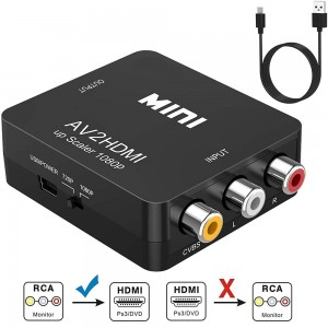 VHS to digital HDMI Converter 1080P RCA AV to HDMI Video Audio Converter Adapter for TV/PC/ PS3/ STB/Xbox VHS/VCR