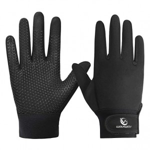 WOLFWAY touch screen warm gloves men's and women's winter windproof and waterproof gloves with inner lining suitable for running, cycling, driving, skiing and outdoor sports