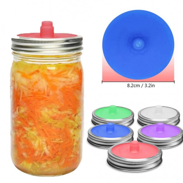 Wide Mouth Mason Jar Lids Mouth Anti Leakage Pickles Seal Caps Ferment Bottle Cap Wide Can Lid for Household Kitchen Supplies
