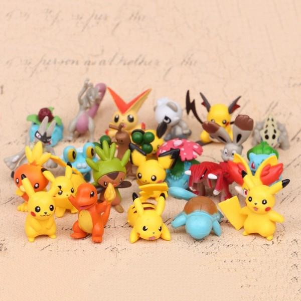 new 144Pcs Tomy Different Pokemon Figures Model Collection 2-3cm Pokémon Pikachu Anime Figure Toys Dolls Child Birthday Gift