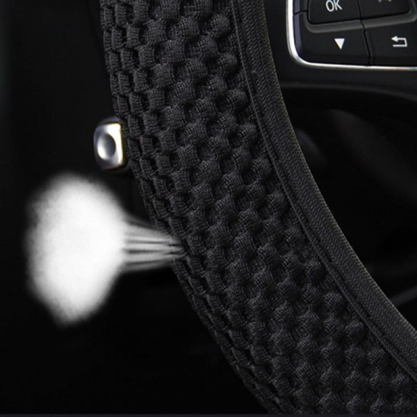 osann Anti-slip and durable car steering wheel cover fabric anti-slip embossed car shape